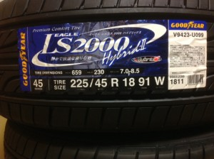 GOODYEAR EAGLE LS2000 HybridⅡ 到着2