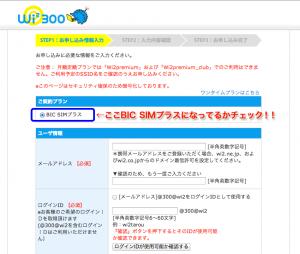 Wi2 300 ビックカメラオリジナルプラン-手順2