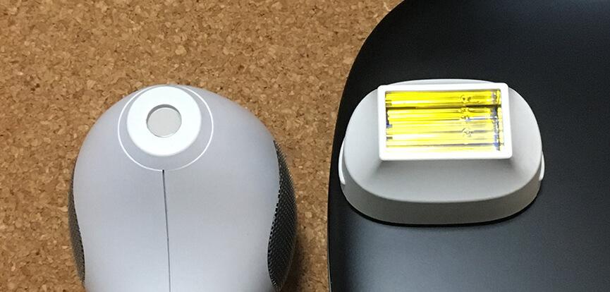 トリア『パーソナルレーザー脱毛器 4X』と『ケノン』の照射面積の比較