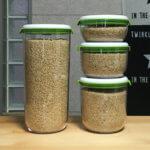 『フォーサ(FOSA)』で米を真空保存!どれだけ入る?真空コンテナ比較(大・中・小・縦長)
